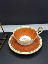 Aynsley Cup and saucer Rust color bone china England - $25.68