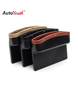 AutoYouth® Car Seat Crevice Pockets 3 Color PU Leather Leak-Proof Storag... - $22.44