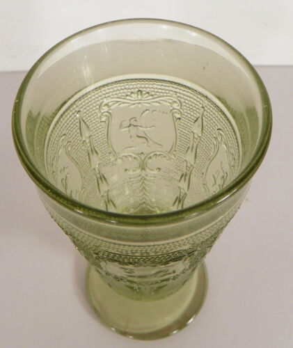 Imperial ZODIAC Green Goblet (s) LOT OF 4 Glass Footed Juice Brandy 5 oz
