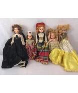 Lot Vintage Small Dolls hard plastics mix sizes valuable dolls Collection - $17.99