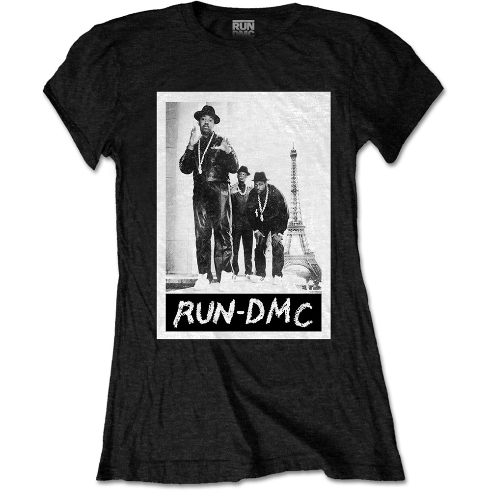 Primary image for Ladies Run DMC Eiffel Tower Rap Official Tee T-Shirt Womens Girls