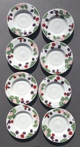 TIENSHAN STONEWARE RASPBERRY SOCIAL 8 Saucers T... - $28.71