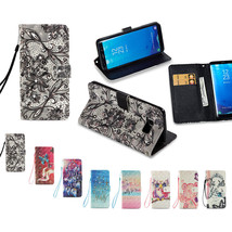 PU Leather Point Drill Card Slot Flip Stand Case Skin Cover for Samsung ... - $8.99