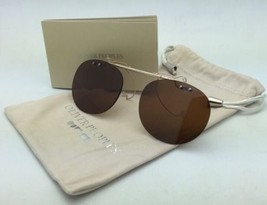 OLIVER PEOPLES 5004C 5039 Riley-R Flip-up Clip-on Gold & Silver /Brown Polarized - $179.99