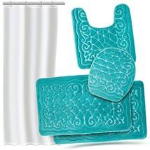 Effiliv 4 Piece Bathroom Rugs Set - Memory Foam Bath Mats, Extra Soft + ... - $48.73