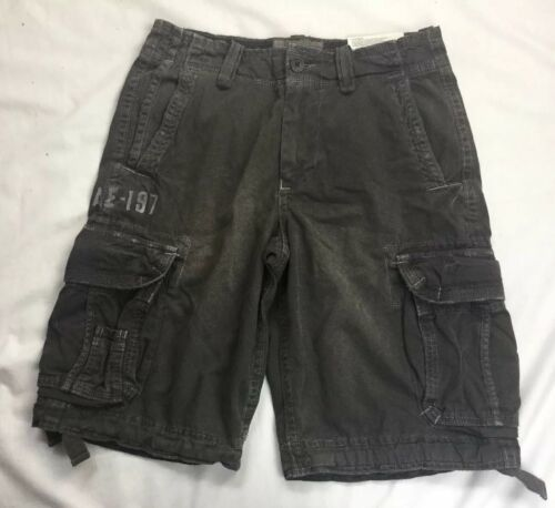 Primary image for New American Eagle Outfitters Cargo Shorts Drawstring Leg Longer Length 30 Green