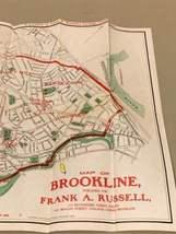 Walker & Co. Antique 1903 Lot Brookline Boston Road Map Cyclist Iver Johnson image 9