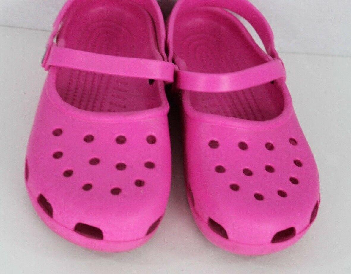 Crocs Damen Clog Sandalen Gummi Pink Größe 8
