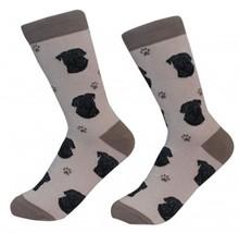 Pug Black Socks Unisex Dog Cotton/Poly One size fits most - $11.99