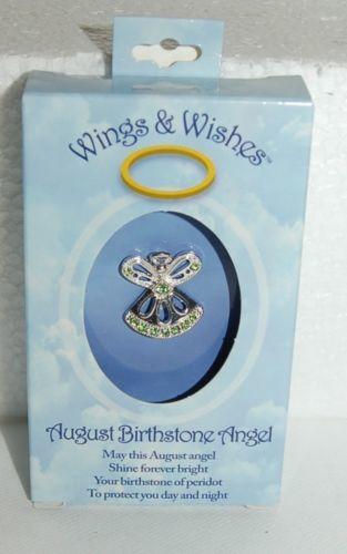 DM Merchandising Wings Wishes WGW08 August Birthstone Angel