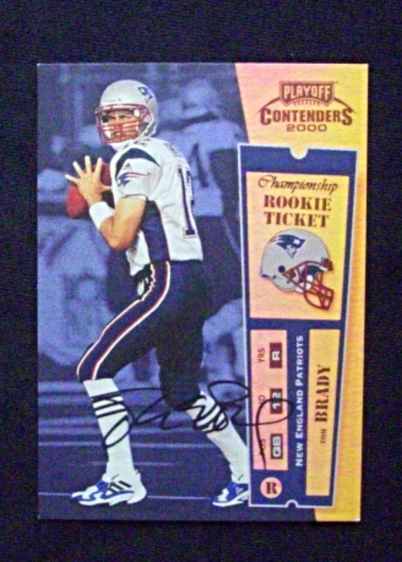 2000 Playoff Contenders Rookie Ticket Auto #144 Tom Brady [Patriots] RC_Repro