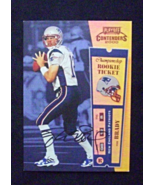 2000 Playoff Contenders Rookie Ticket Auto #144 Tom Brady [Patriots] RC_... - $6.00