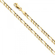 4mm 14K Yellow Gold Figaro Necklace - $295.99+