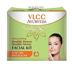 50 gm VLCC Ayurveda Skin Purifying Double Power Double Neem Facial Kit - $11.29