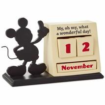 Hallmark Disney Mickey Mouse Resin Perpetual Calendar New - $38.80