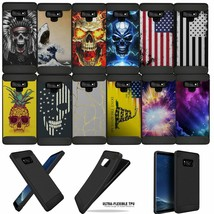 For (Samsung Galaxy Note 9) Shock Case with Grip Texture Flexible TPU - $9.89