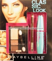 MAYBELLINE* 3pc CLASSIC LOOK Eye Shadow+Eyeliner+Mascara CHIC NATURALS Set - $10.60