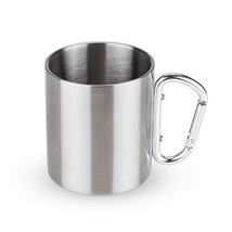 Travel Mug, Carabiner Chrome Coffee Stainless Steel Insulated Mule Mug - £14.57 GBP