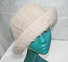 COOL VINTAGE 'KANGOL' PALE CARAMEL SOFT STYLED BOWLER SHAPE HAT WARM CHIC - $17.40