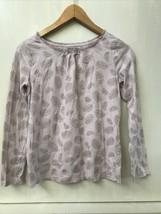 Gap Kids XXL 14-16 Girls Pale Purple Silver Feather Dot Long Sleeve Top - $9.95