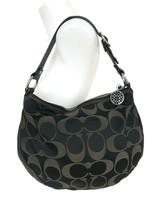 COACH Mahogany Signature C Satin Leather ALI Hobo Slouch Handbag Purse 1... - $56.06