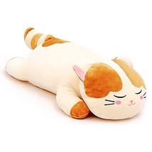 Lazada Plush Cat Stuffed Kitty Super Soft Animal Pillows for Kids Toys L Brwon