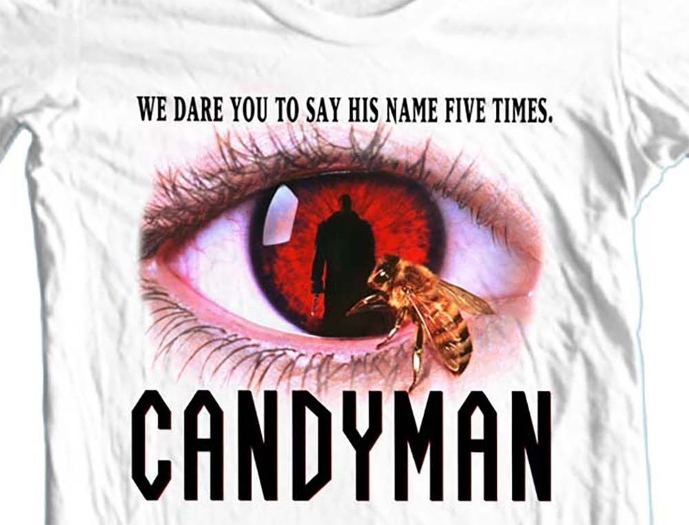 Candyman T-shirt retro horror movie 80s slasher films 100% cotton graphic tee