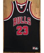 Authentic Nike 1997-98 Chicago Bulls Michael Jordan Away Road Black Jers... - $399.99