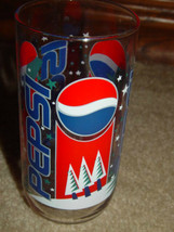 Pepsi  Snowman Drinking Glass - $9.50