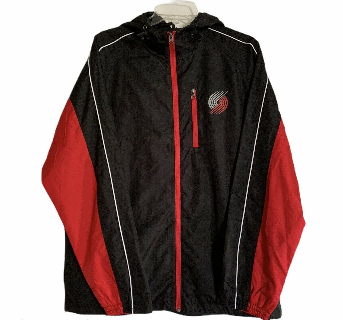 Primary image for Men's Carl Banks Portland Trail Blazers Full Zip Windbreaker Jacket Sz MD NWT