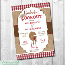 Graduation Party Cookout BBQ Invitation/printable/Digital File/DIY - $14.99