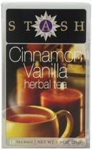 Stash Tea Cinnamon Vanilla Herbal Tea 18 Count Tea Bags in Foil Pack of ... - $17.04