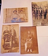 Antique 4 Post Card Black & White Photos One Used With Stamp & Address - $14.99