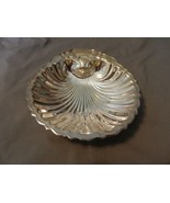 Silverplated Large Clam Shell Serving Bowl, Raised Details (M) - $37.13