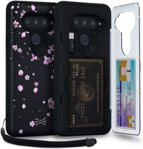 Toru Cx Pro Lg V40 Thinq Wallet Case Pattern Floral With Hidden Credit Card Hold - $24.74