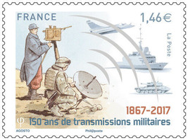 France 2017 Stamp MNH Military Army Communication Mint NH - $2.97