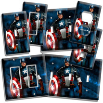 Super Hero Captain America Light Switch Outlet Plates Game Play Room Bedroom Art - $9.99+