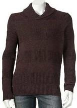 Mens Sweater Apt 9 Merlot Purple Textured Shawl Collar Long Sleeve NEW $... - $43.56
