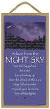 Advice from the Night Sky wood sign - officially licensed from Your True... - $12.86