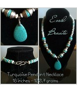 Turquoise Pendant Necklace - New - $55.00