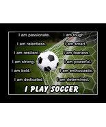 Inspirational Soccer Ball Motivation Poster I Play Soccer Wall Art Gift - £15.31 GBP - £35.23 GBP