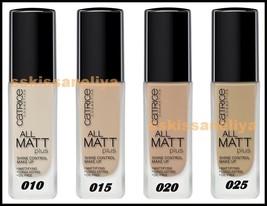 CATRICE Cosmetics ALL MATT Plus Shine Control Make-up 30 ml Long-Lasting... - $19.59