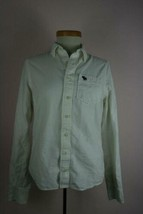 Abercrombie Kids  White Cotton Long Sleeve Button Up Sz XL - $14.87
