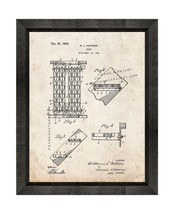 Stair Patent Print Old Look with Beveled Wood Frame - $24.95+