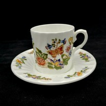 Aynsley Demitasse Cup and Saucer COTTAGE GARDEN Fine Bone China England - $19.88