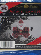 Star Santa Holiday Ornament Pin IV Counted Glass Bead Kit by Mill Hill - $8.41
