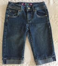 Levi's Girls Embroidered Denim Blue Jean Bermuda Shorts Size 10 - $7.50