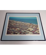 VINTAGE 1970s Myrtle Beach Downtown Pavilion Framed 16x20 Poster Display - $74.44