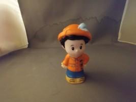 Fisher-Price Little People Koby Orange Shirt/Hat Frog Loose Mattel 2014  - $5.25