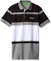 New Hugo Boss Paddy Pro 1 Men's Premium Stripped Stretch Polo Shirt 50333640